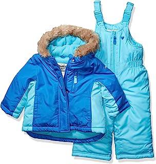 OshKosh B'Gosh 女婴滑雪夹克和雪地围兜防雪服套装