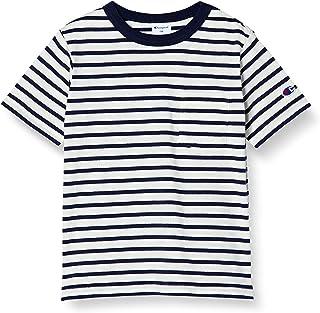 Champion Basic系列 条纹短袖T恤 棉* 单点徽标 男童款 CK-T304