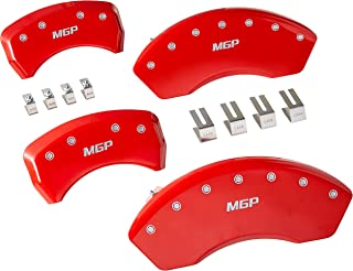 MGP 悬臂套 17112SMGPRD 悬臂保护罩(红色粉末涂层,正面和背面雕刻:MGP,银色人物,4 件套)