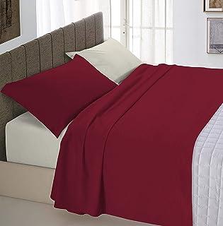 """意大利床上用品""""自然色""""床上用品套装,酒红色/奶油色,小号双人"""