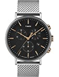 Timex 天美时 男式计时石英手表不锈钢表带 TW2T11400