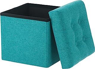 不二贸易 收纳凳 折叠 宽30厘米 蓝色 脚凳 承重80千克 箱凳 迪诺 mini 86852