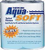 THETF0RD Thetford Aqua-Soft 卫生纸 - 房车和海洋用厕纸 - 2 层 03300(4 件装…