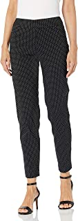 SLIM-SATION 女式宽带套穿圆点提花及踝裤
