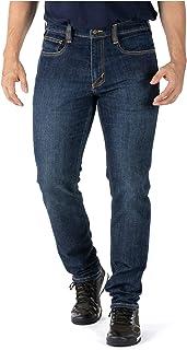 5.11 Tactical 男士 Defender-Flex 修身工作牛仔裤,贴袋,修身腰带,款式 74465