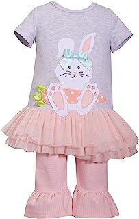 婴儿/幼儿女孩复活节衣服可爱桃红色胡萝卜兔子芭蕾舞短裙套装
