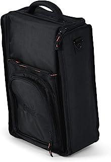 Gator Cases Club 系列 DJ 邮差风格双通道混音器手提袋,亮橙色内饰;专为 Rane 72 设计 (GCLUBRN72)