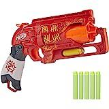 hasbro 孩之宝 NERF 热火 Zombie Strike Hammershot Blaster 后拉锤式炸弹枪玩…