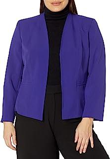 Kasper 女式加大码弹力绉纱夹克