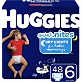 HUGGIES OverNites Diapers, Size 6, 48 ct, Overnight Diapers…