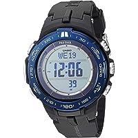 Casio 卡西欧 男式 'Pro Trek' 石英不锈钢树脂手表,颜色:黑色(型号:PRW-3100YB-1CR)
