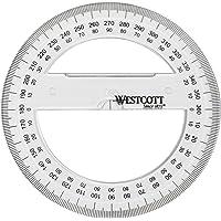 Westcott E-10135 00 全圆圆圆头,塑料,10厘米,透明
