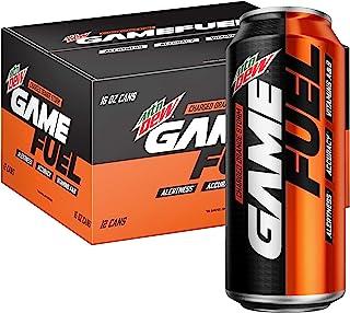 Mountain Dew Game Fuel Charged 碳酸饮料 16盎司(约473.18毫升)罐,12罐装,包装可能会有所不同,橙子风暴,192Fl Oz(5.68升)