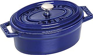 Staub 珐宝 迷你铸铁椭圆炖锅11厘米宝蓝色