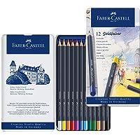 Faber-Castell 辉柏嘉 金色彩色铅笔 金属笔杆, 12 Stück Dosen Set, 多种颜色