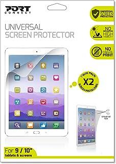 Port Designs 适用于三星/iPad 通用平板电脑屏幕保护膜,含 2 片屏蔽布