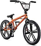 Mongoose Legion Mag 自由式人行道 BMX 儿童自行车,儿童和初学者水平到高级骑手,20 英寸轮子,H…