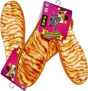 步益郎 (虎纹精仿羊绒 舒适保暖型鞋垫)/双x2双 除臭 保暖 抗菌 吸汗看不见的优秀品质 可以感受的暖暖温情 一份体贴 十分呵护 让你爱上这个冬天 (36)