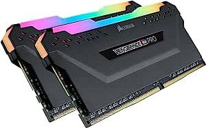 CORSAIR 海盗船 Vengeance RGB PRO 32 GB(2 x 16 GB)DDR4 3200 MHz C16 XMP 2.0 Enthusiast RGB LED照明内存套件 - 黑色