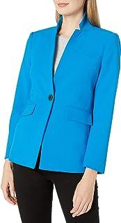 Vince Camuto 女式纹理斜纹立领外套
