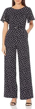 Calvin Klein 女士短款飘逸无袖束带连身衣