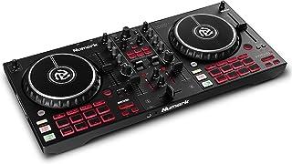 Numark Mixtrack Pro FX – 2 副 DJ 控制器适用于 Serato DJ 和 DJ 混音器,内置音频接口,电容式触摸慢跑轮和 FX 桨