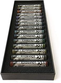 """Royal Talens – 伦勃朗特超细柔蜡笔 – 专业艺术家品质 – """"深色""""15 件选择"""
