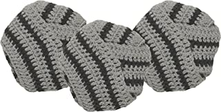 Now Designs Tawashi Knot Scrubbers, Black, Set of 3