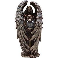 Ebros Sheila Wolk 天使宁静雕像杰作美丽天使手持变质蝴蝶水晶球雕像装饰艺术作为鼓舞人心的乔迁礼物