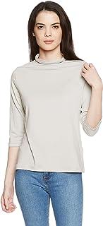 [Seshiel]天丝瓶颈七分袖T恤(日本产)MU-407 女式