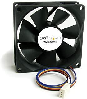 StarTech.com 替换装 70mm TX3 双球轴承 CPU 冷却器风扇 FAN7X10TX3(黑色)FAN8025PWM PWM 80x25mm