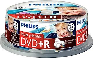 Philips 飞利浦 DVD+R 刻录盘(4.7 GB Data / 120分钟视频,16 x 高速刻录,25张,可喷墨打印)