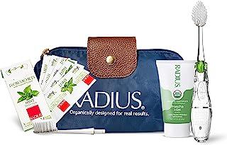 RADIUS Brusha-Brusha 儿童豪华口腔护理套装(超软托茨牙刷,*儿童牙膏龙果味,牙刷/剃须刀吸盘架,旅行箱),1 件