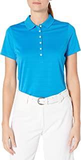 Callaway 女式短袖 Opti-Vent 开放式网眼高尔夫 Polo 衫 中度蓝 X大码