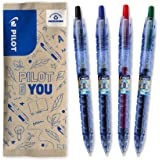 Pilot 百乐 – 套装带 4 个 B2P Gel 0.7 – 圆珠笔 – 可伸缩 – 由回收塑料制成 – 蓝、黑 红…