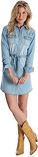 Wrangler Women's Long Sleeve Denim Shirt Dress