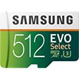 Samsung 三星 EVO Select 512 GB microSD 100MB/s,速度,全高清和4K UHD 存…