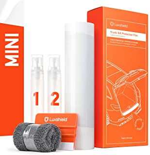 Luxshield 汽车保险杠保护套 全套 适用于 ONE/Cooper/JCW 3门孵化器 3 (III) F56 I 2014-2018 - 汽车后保险杠保护 - 防刮 PPF 配件 - 透明油漆保护膜