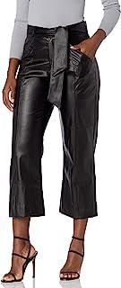 KENDALL + KYLIE 女式人造皮革短款系带腰裤