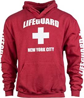 NYC Lifeguard | 红色纽约市 NY 连帽衫运动衫连帽衫毛衣男式女式