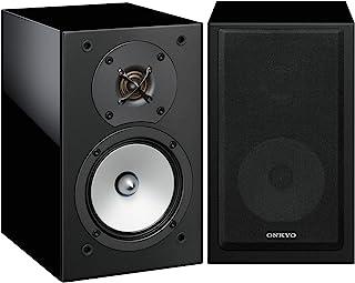 Onkyo 安桥 D-175B 两分频低音反射音箱(120W,65Hz-100kHz频率范围内具有强劲低音的细腻声音,适用于家庭影院,高保真音响系统,适用于客厅),黑色