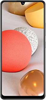 Samsung 三星 Galaxy A42 5G Android 智能手机无合同,4 个摄像头,5000 mAh 电池,6.6 英寸 Super AMOLED 显示屏,128 GB/4 GB 内存,5G 数据连接,灰色,德语版