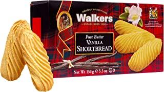 Walkers Shortbread 香草酥饼,5.3盎司/150克(4盒装)简单传统的纯黄油酥饼饼干,来自苏格兰高地,无人工香料