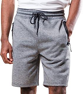 BROOKLYN ATHLETICS 男式运动健身短裤拉链口袋