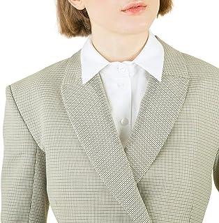 ZTie 可拆卸尖头衬衫领女士假Dicky 领可拆卸领简约风格办公室女士上衣