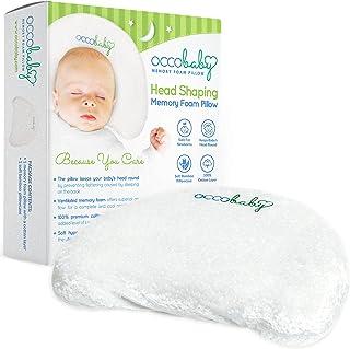 OCCObaby 婴儿头形*泡沫枕头 | 棉套和竹子枕套 | 让您的宝宝头部保持圆形 | 防止婴儿和新生儿扁平头*