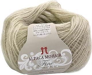 和麻纳卡 阿尔帕卡莫美毛 毛线 粗毛线 Col.2 米色 系 25g 约110m 2148, 10玉セット, 米黄色