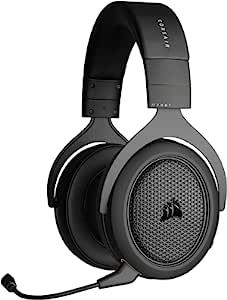 CORSAIR 海盗船 HS70 蓝牙有线游戏耳机 - 适用于 PC、Mac、Xbox Series X、Xbox Series S、Xbox One、PS5、PS4、Nintendo Switch、iOS 和 Android - 碳色