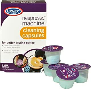 Urnex Nespresso 机器清洁剂 – 5 杯 – 咖啡机清洁盆清洁酿造室退出喷嘴和喷嘴