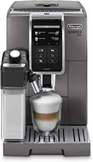 De'Longhi 德龙 Dinamica Plus 全自动咖啡机 ECAM 370.95.T 带奶泡系统,一键式制备卡布奇诺/意式浓缩,3.5英寸TFT触摸屏彩色显示器/App控制,咖啡煮壶功能,钛制